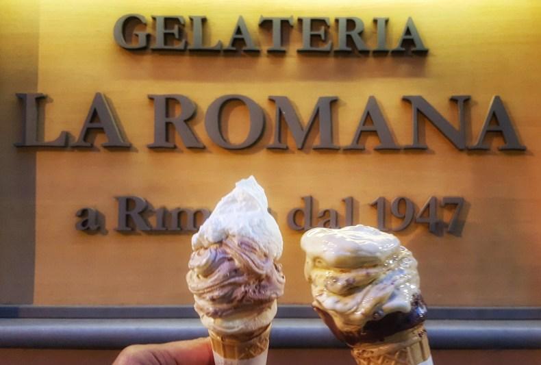 Gelato at Gelateria La Romana in Rome, Italy