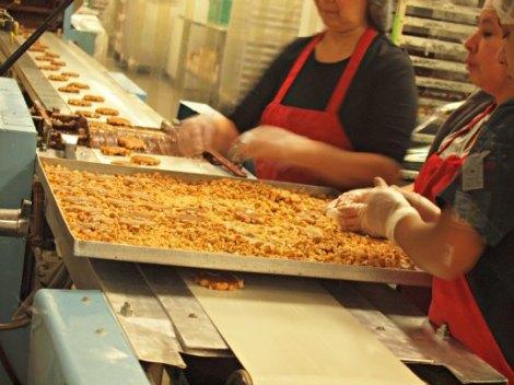 Caramel and Peanut Patty Making