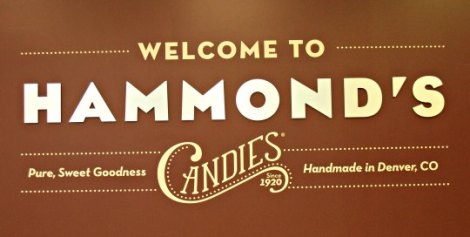 Hammond's Candy Factory Sign