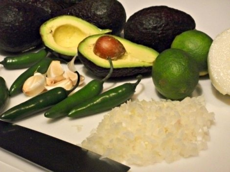 Avocado Ingredients Closeup