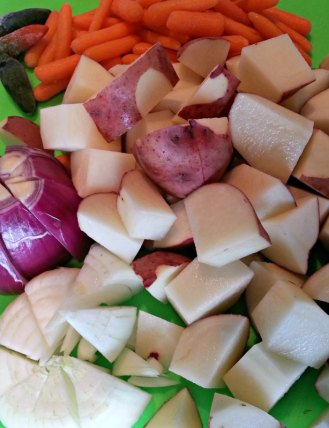 Chopped Veggies for Pot Roast