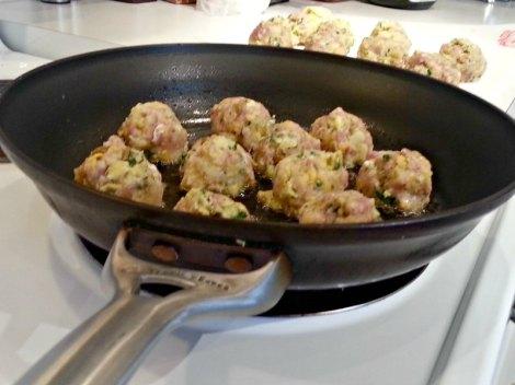 Breakfast Burrito Meatballs Cooking