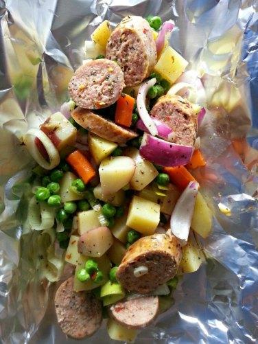 Sausage Hobo Dinners