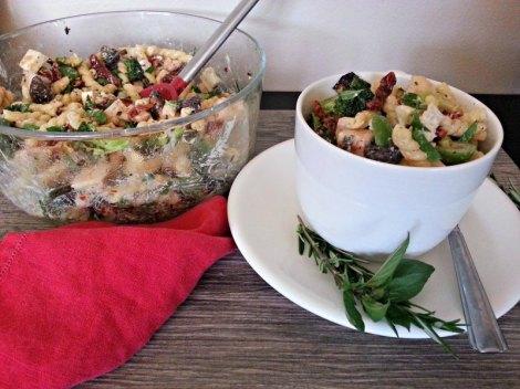 Serving of Grilled Pasta Salad