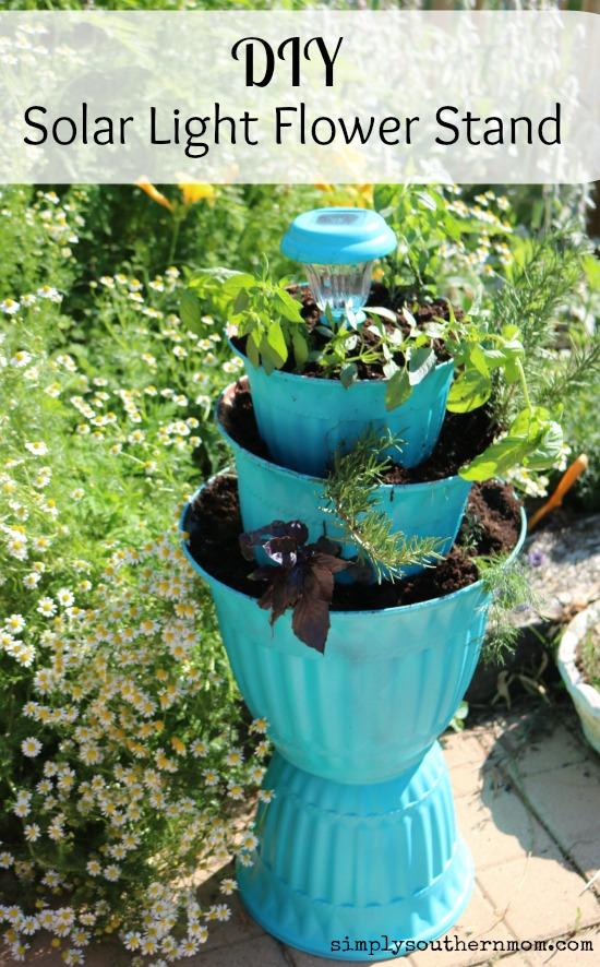 How To Make Your Own Diy Flower Pot Solar Light Planter