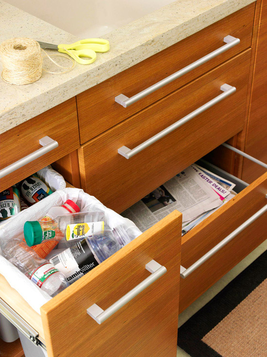 Use a Drawer Paper Recycler // How to Organize Your Recyclables // simplyspaced.com