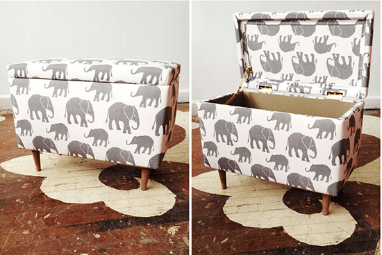 Sit and Stow // Creative & Cute Nursery Storage // simplyspaced.com