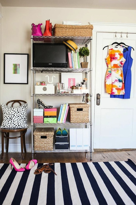 Bedroom Beauty // 7 Ways to Organize Using Wire Shelving // simplyspaced.com