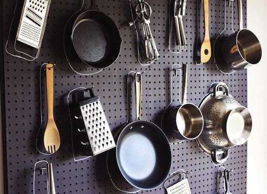 Traced Items Pegboard // Pegboards That Live Outside The Box // simplyspaced.com