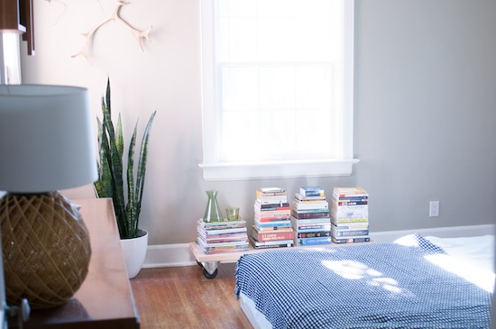 "Separate Out ""To Read"" Books // Books: 5 Ways to Organize Your Library // simplyspaced.com"