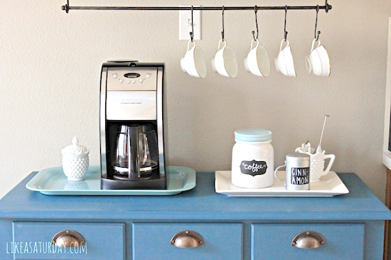 S-Hooks for Mugs and Tea Cups // 14 ways to Organize with S-Hooks // simplyspaced.com
