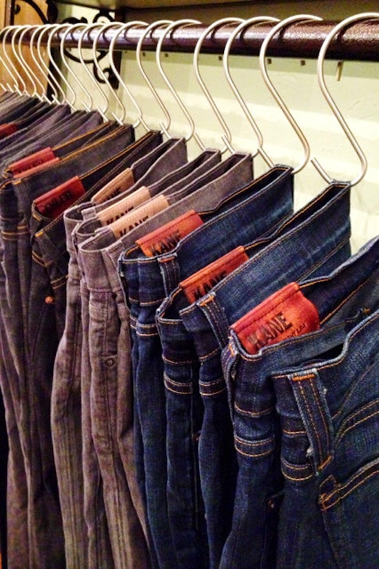 S-Hooks for Pants // 14 ways to Organize with S-Hooks // simplyspaced.com