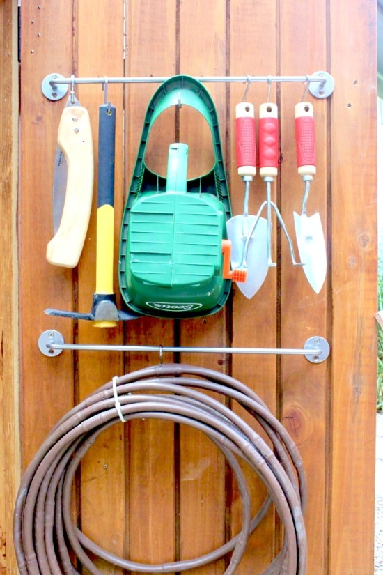 S-Hooks for Gardening Supplies // 14 ways to Organize with S-Hooks // simplyspaced.com