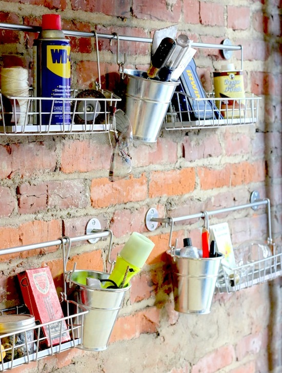 S-Hooks for Garage Gadgets // 14 ways to Organize with S-Hooks // simplyspaced.com