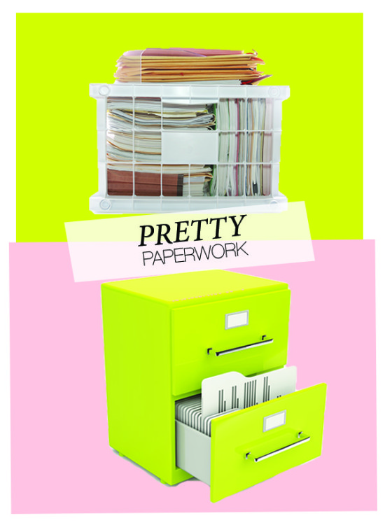 Top 5 Tips for Filing // Pretty Paperwork: How to Organize Your Files // simplyspaced.com