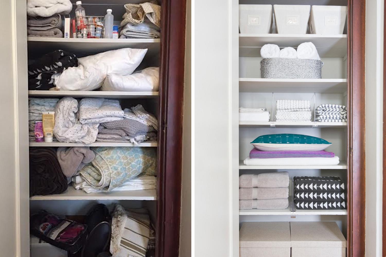 How To Set Up A Stylish Organized Linen Closet