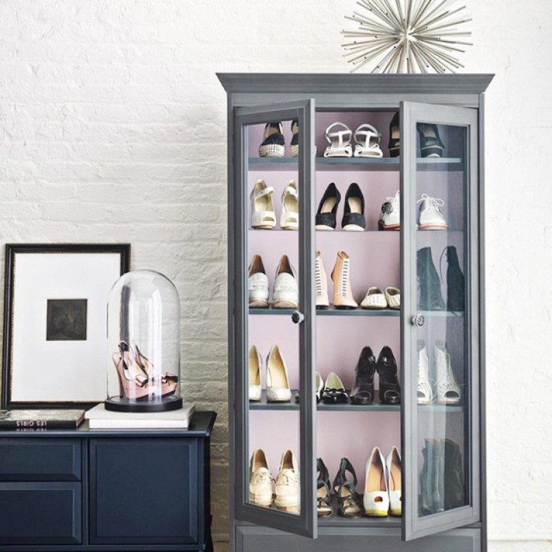 Organized closets // closet organizing // how to organize your shoes // shoe storage ideas // extra storage // DIY shoe storage // small space storage solutions // cabinets and armoires // www.SimplySpaced.com