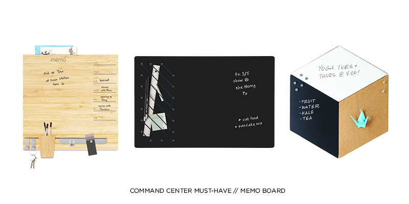 COMMAND CENTER MUST-HAVE: MEMO BOARD