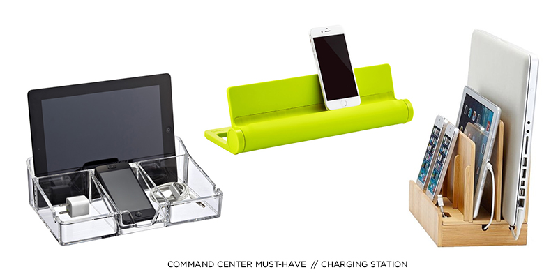 COMMAND CENTER MUST-HAVE: CHARGING STATION