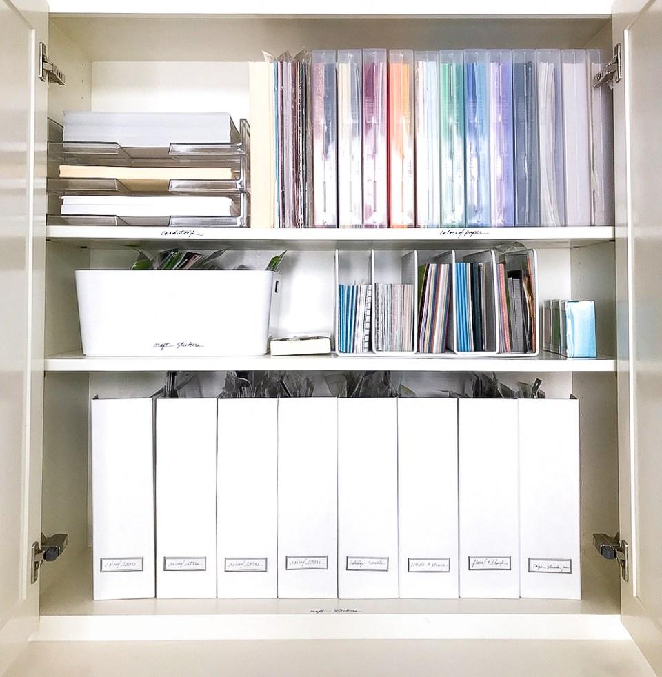 Art Supply organizer, Craft room storage, Craft room organization, Craft closet, Scrapbooking Organizing