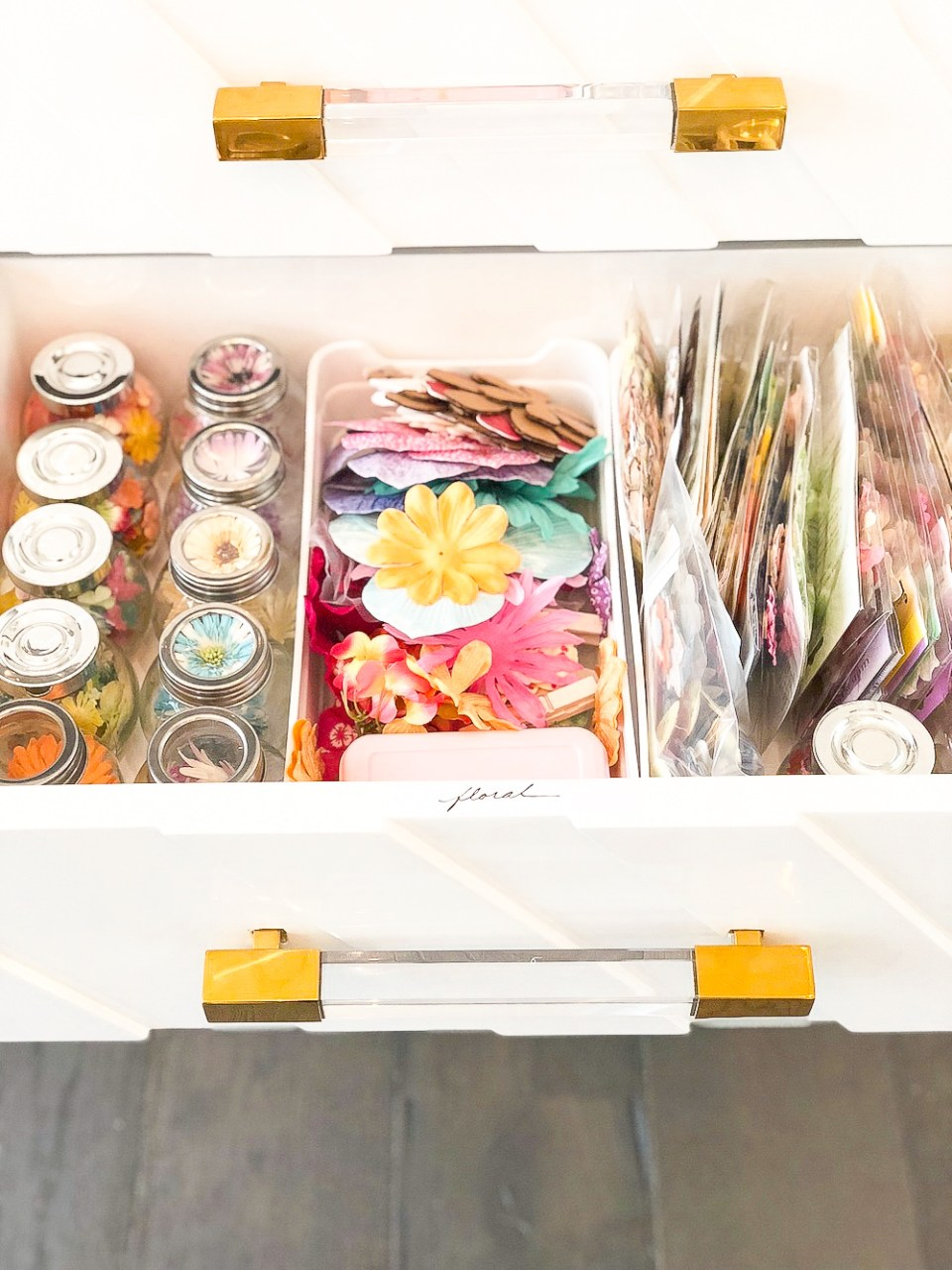 Crafting Supplies Drawer and storage ideas
