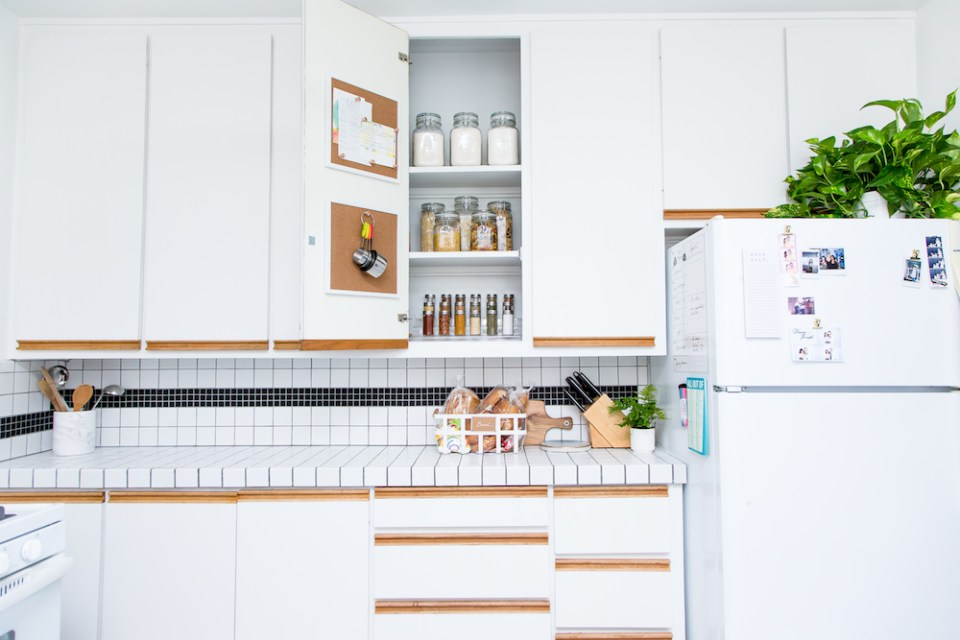 Small Kitchen Organizing Ideas & Storage Tips // Simply Spaced