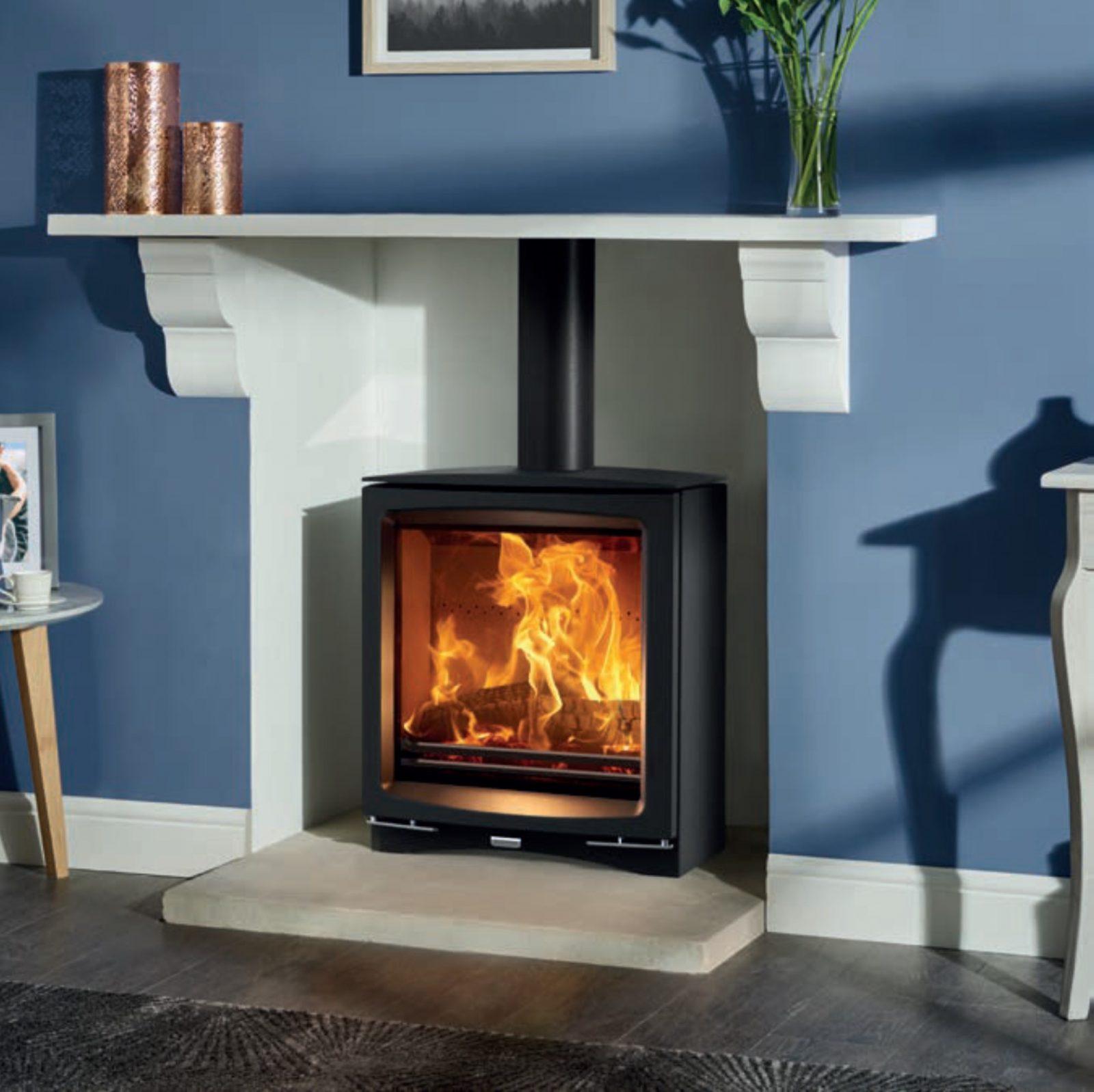 Stovax Vogue Medium Slimline Wood Burning Stove Simply