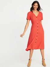 Button Down Midi Dress