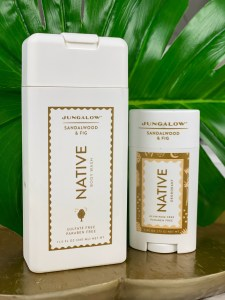 Native jungalow body wash and deodorant