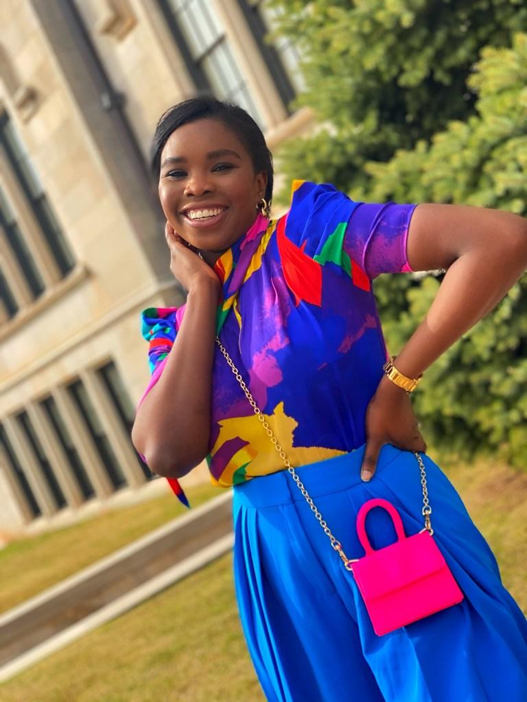 Multicolor spring look