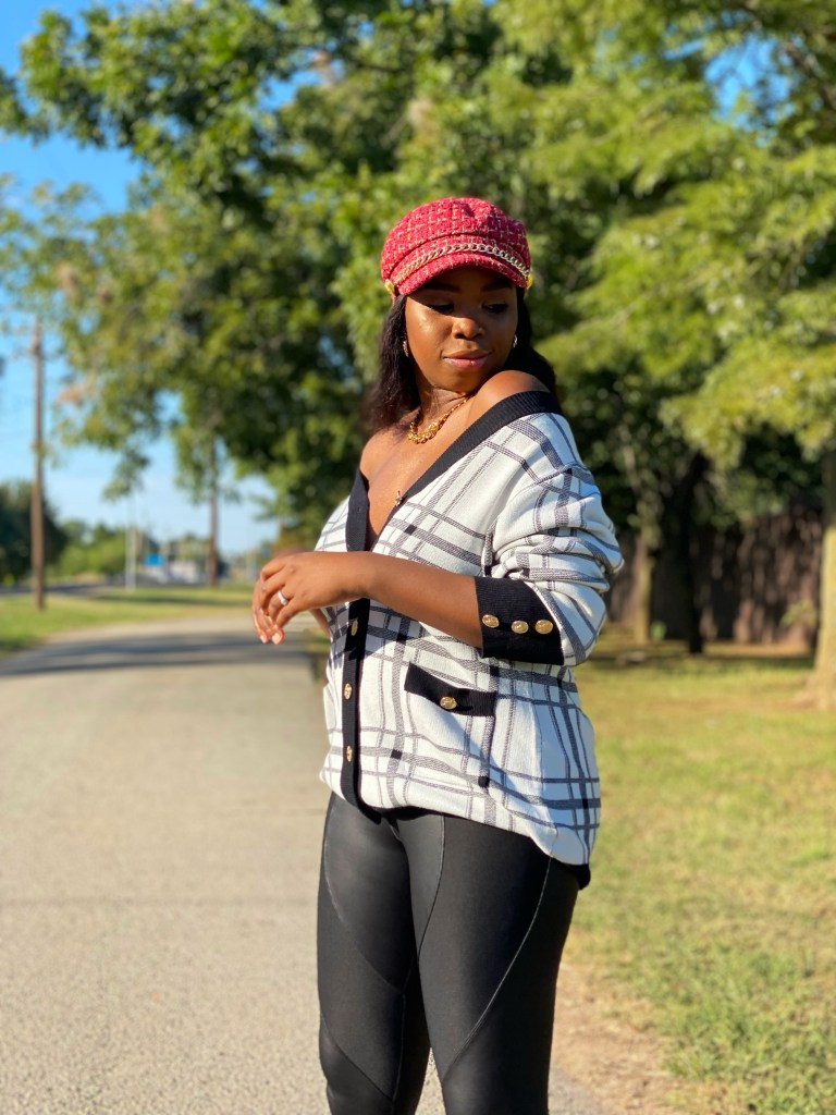 STYLING PLAID CABBIE HATS AND CARDIGANS FOR FALL