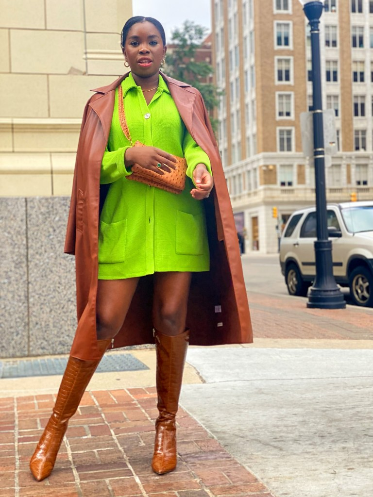 how to tone down colourful looks for Fall