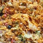 Close up of taco salad