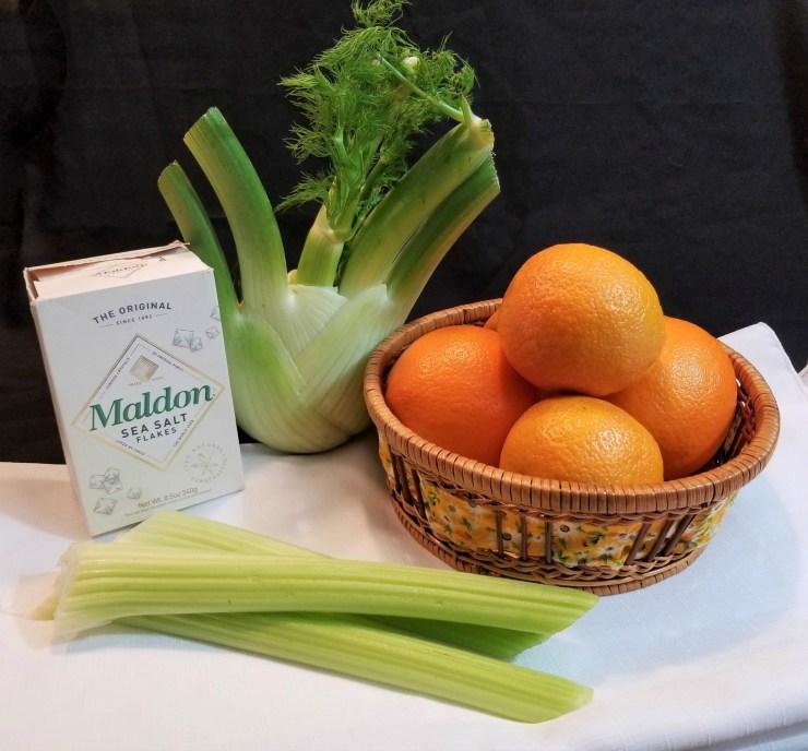 Ingredients for Citrus Fennel Salad