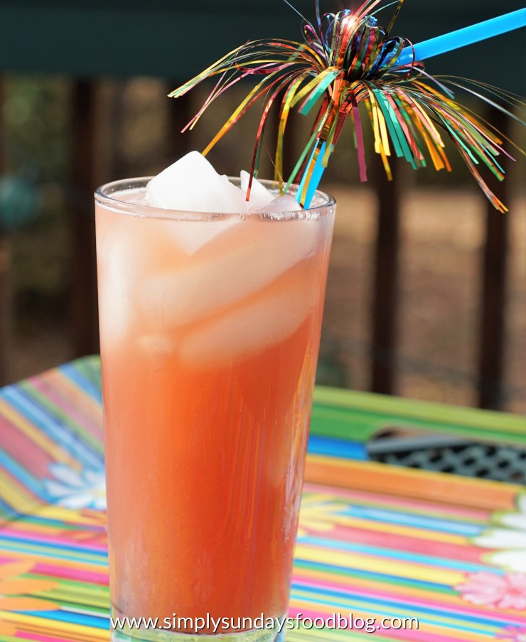 An icy cocktail of Malibu rum and juices