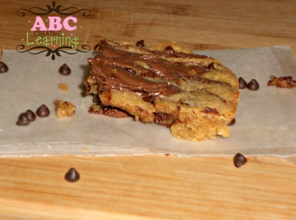 Chocolate Chip and Nutella Blondie