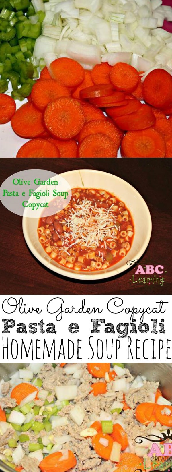 Looking for an easy and delicious soup recipe? Check out our Olive Garden Pasta e Fagioli Soup Copycat recipe. Perfect for cooler weather and when you're not feeling well. It's filled with lots of veggies and some changes my family loved. - simplytodaylife.com