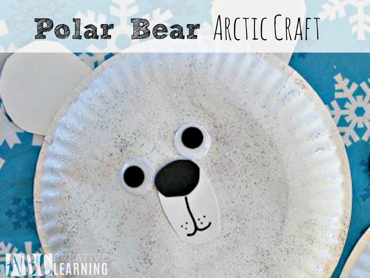 Easy Polar Bear Arctic Craft Paper Plate Perfect For