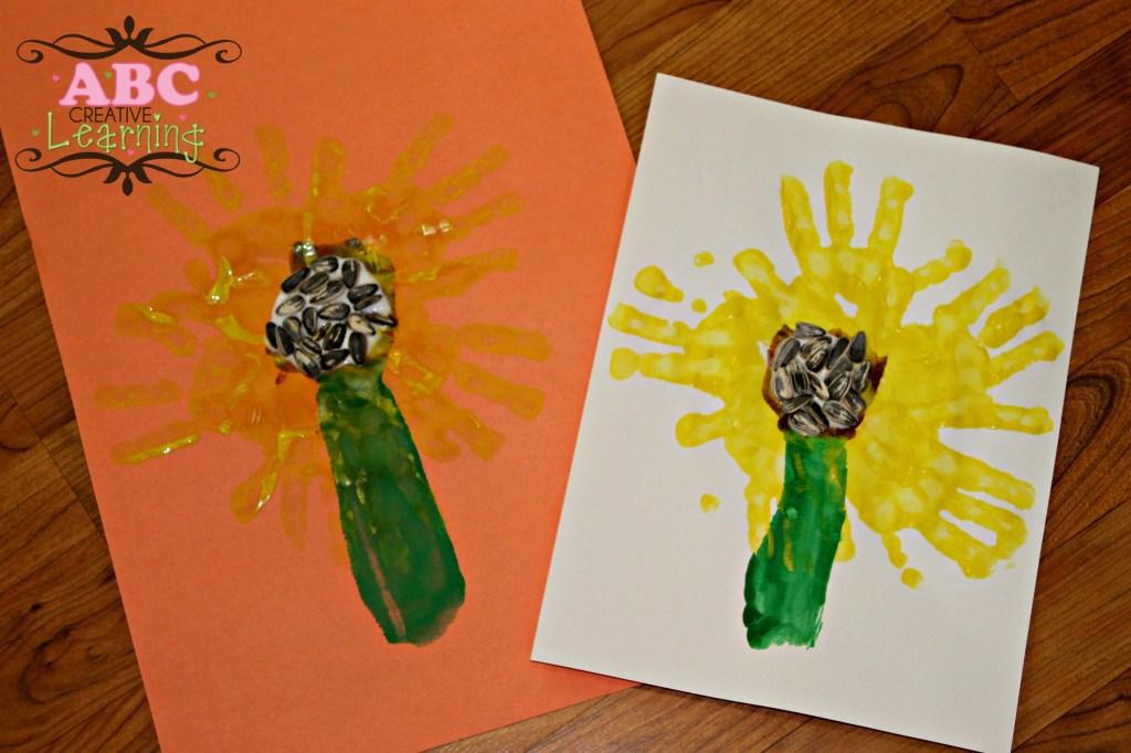 Beautiful Sunflower Handprints Craft