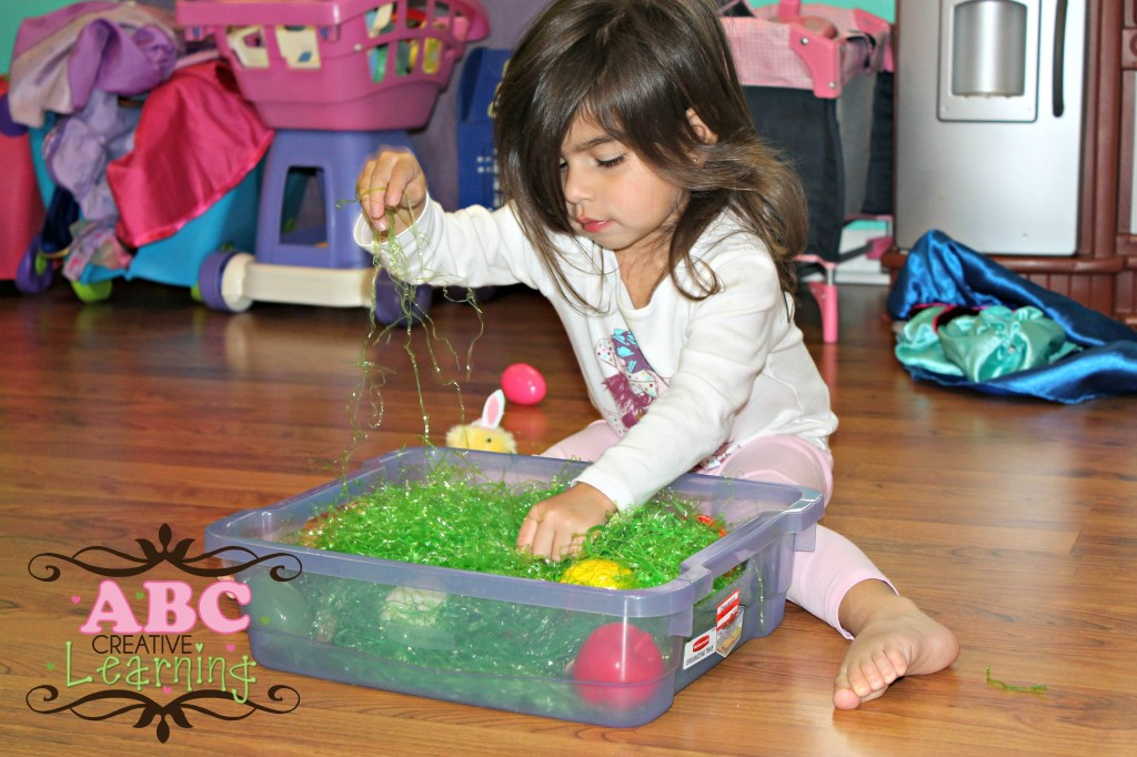 Easter Egg Sensory Play Bin