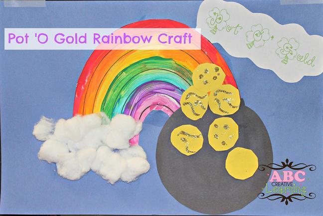 Pot o Gold Rainbow Craft