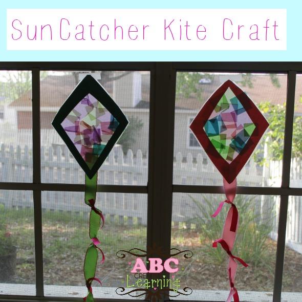 Sun catcher kite craft