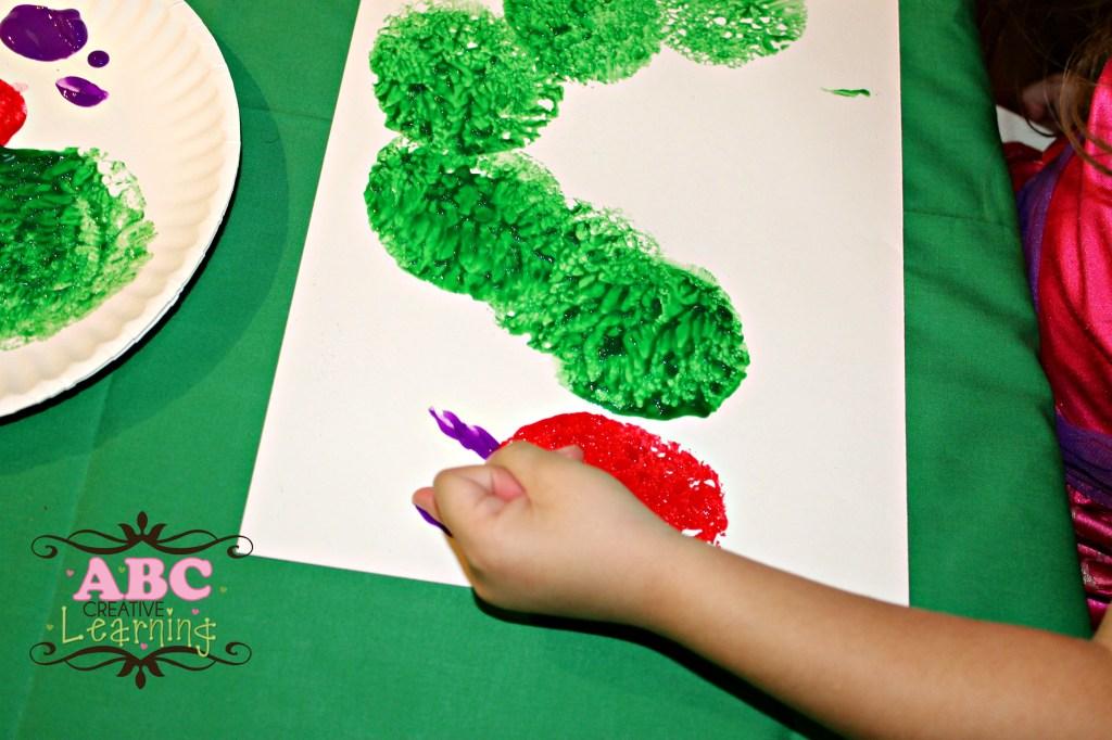 Caterpillar Kid Art
