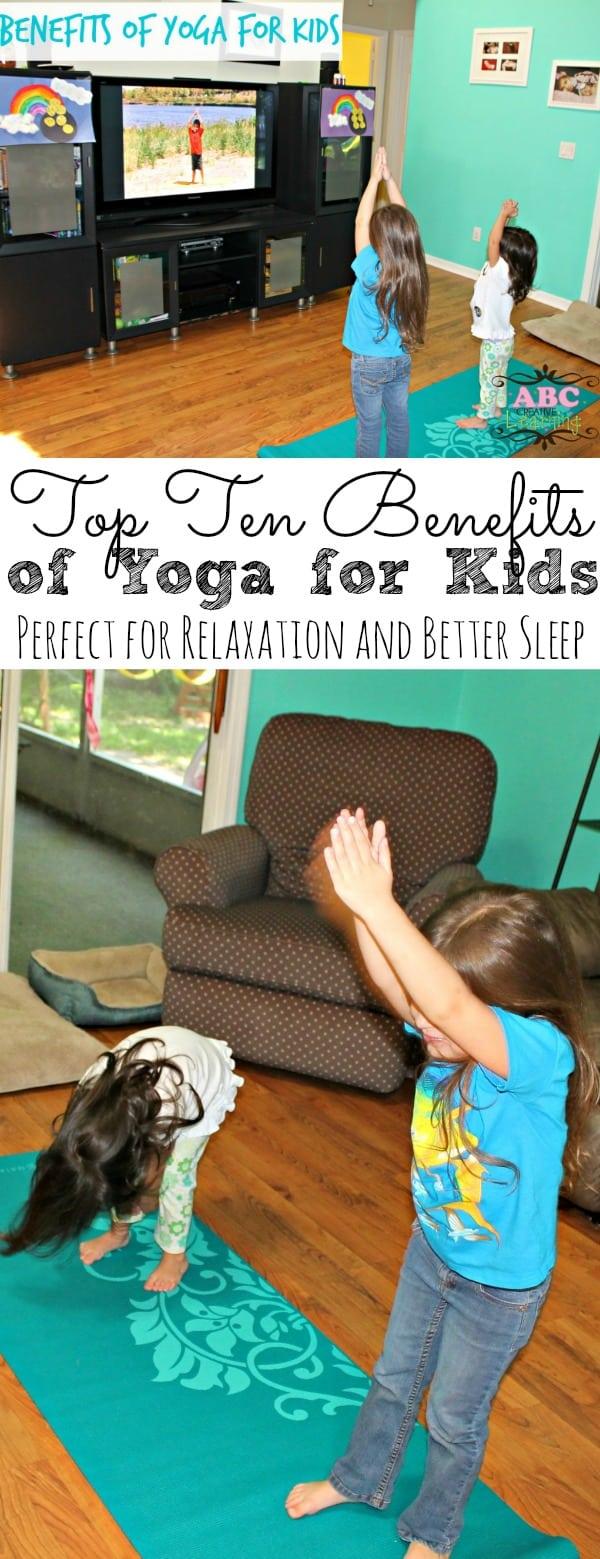 Top Ten Benefits Of Yoga For Kids