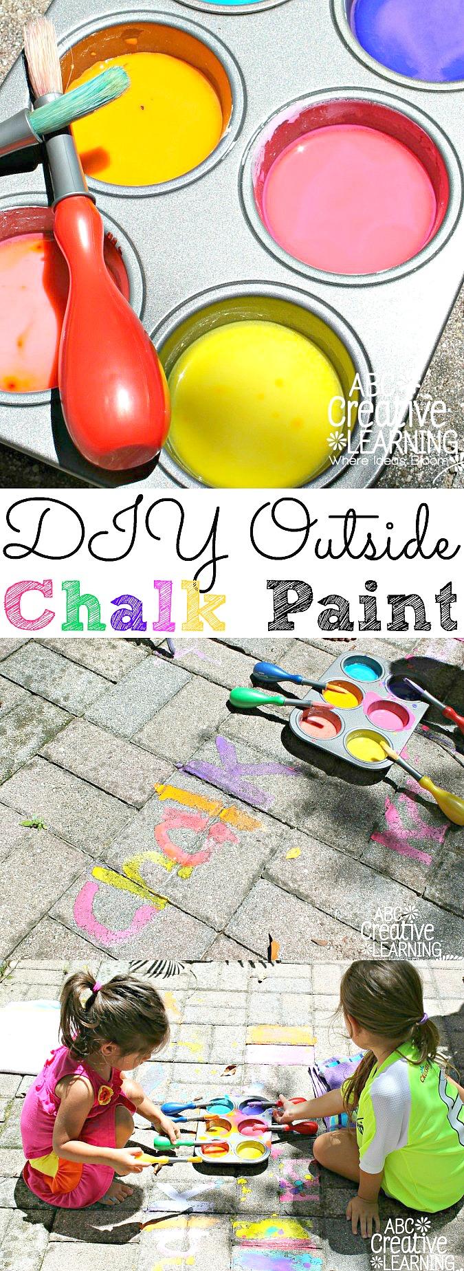 DIY Outside Chalk Paint For Kids - simplytodaylife.com