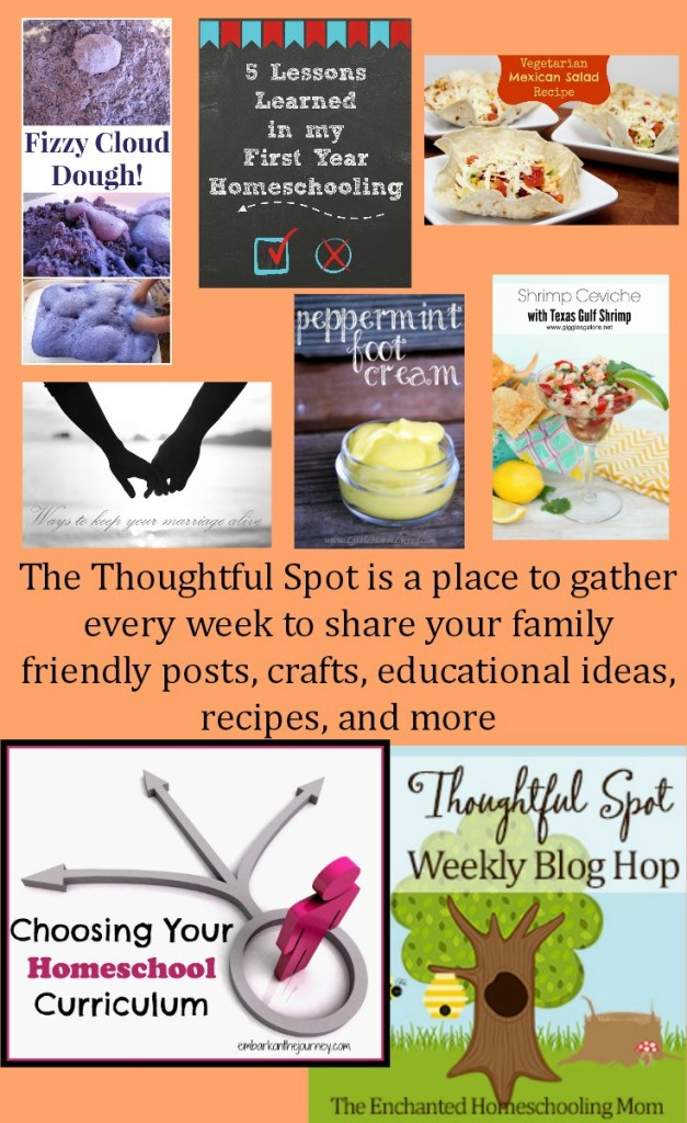 Thoughtful Spot Weekly Blog Hop - Recipes-Homeschooling-Parenting Advice