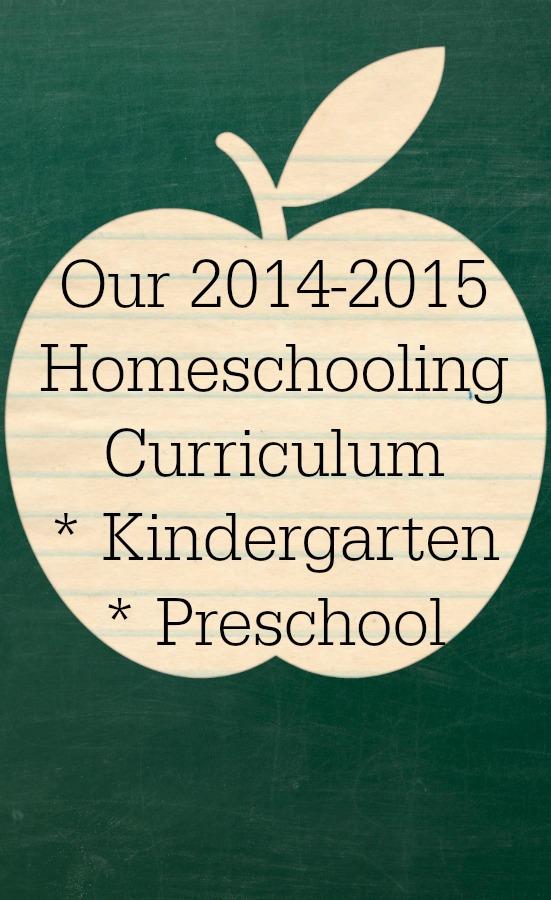 2014-2015 Homeschooling Curriculum