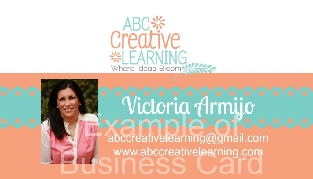 Example of Front of Business Card