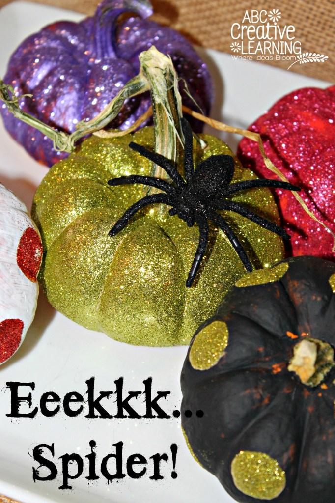 Glitter and Polka Dot Pumpkins