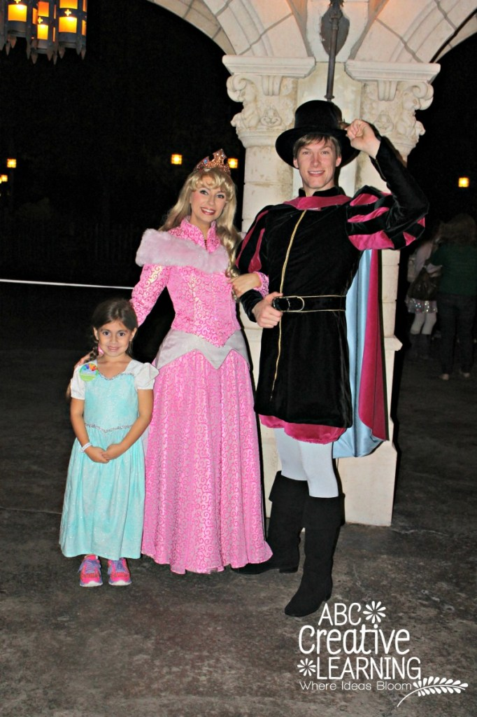Aurora and Prince Phillip at the Very Merry Christmas Party